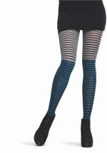 Stripe tricot panty PETROL
