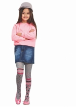 Superdot tricot panty KIDS GRAFIET