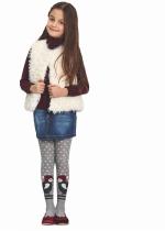 Penguin tricot panty KIDS GRIJS