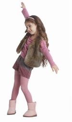Angora wool mix 200 DEN panty KIDS ANTIEK ROSE