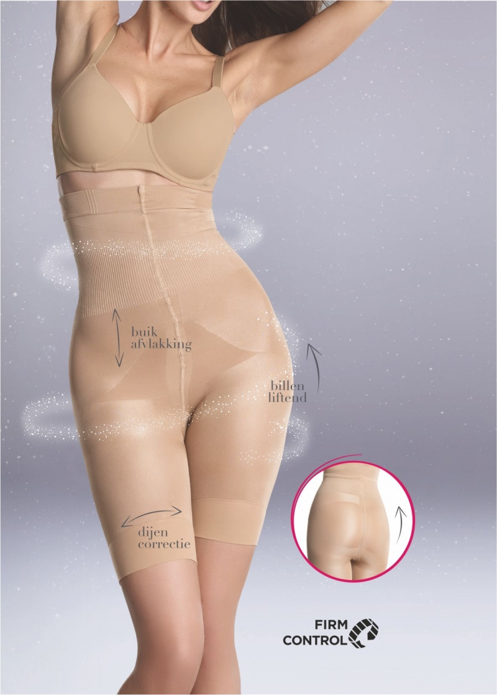 Tight corset 140 DEN correctiebroek ZWART