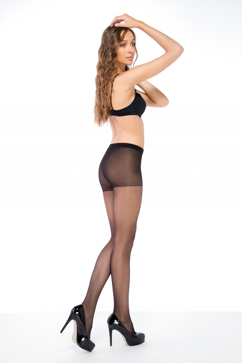 Fit 15 sheer toe 15 DEN panty ZWART